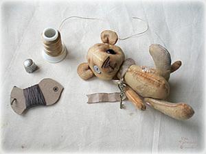 Пошив мишки из того, что есть под рукой. Часть первая.. Ярмарка Мастеров - ручная работа, handmade.