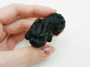 Подвеска  «Пияо»  — талисман богатсва из натурального камня обсидиан. Ярмарка Мастеров - ручная работа, handmade.