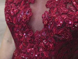Создание уникального кружева для лифа свадебного или вечернего платья. Ярмарка Мастеров - ручная работа, handmade.