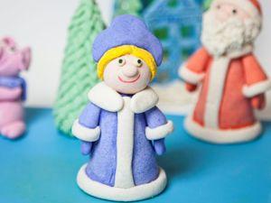 Лепим Снегурочку из соленого теста. Ярмарка Мастеров - ручная работа, handmade.