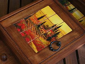 Ключница с имитацией панно из керамической плитки. Ярмарка Мастеров - ручная работа, handmade.