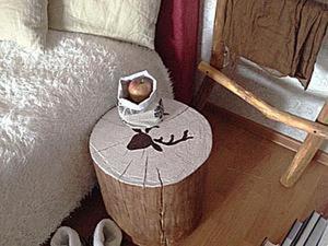 Как просто сделать прикроватный столик из пенька. Ярмарка Мастеров - ручная работа, handmade.