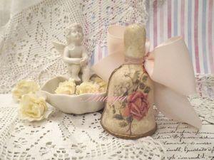 В магазине новый колокольчик Роза Шебби шик. Ярмарка Мастеров - ручная работа, handmade.