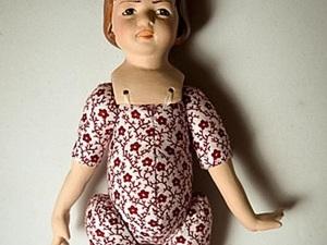 Как собрать фарфоровую куколку с текстильным телом. Ярмарка Мастеров - ручная работа, handmade.