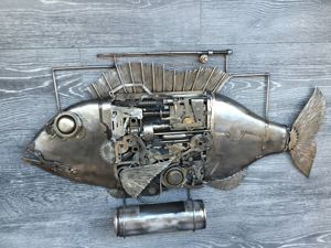"Панно  «Рыба с историей"". Ярмарка Мастеров - ручная работа, handmade."