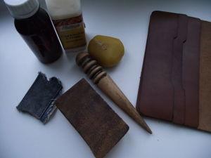 Портмоне — обработка уреза или как это сделать. Ярмарка Мастеров - ручная работа, handmade.