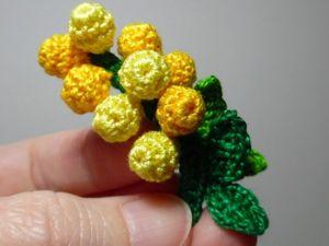 Как связать крючком мимозу. Ярмарка Мастеров - ручная работа, handmade.