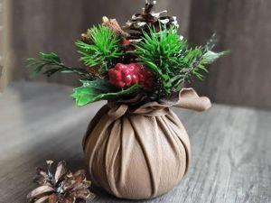 Новогодний подарок — МК  «Вазочка из кожи». Ярмарка Мастеров - ручная работа, handmade.