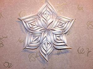 Видео мастер-класс: делаем объемную снежинку из бумаги. Ярмарка Мастеров - ручная работа, handmade.
