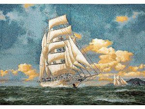 Хочется моря, спокойствия, ветра, свежести? Наши гобеленовые парусники вам в помощь. Ярмарка Мастеров - ручная работа, handmade.