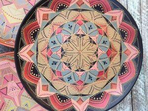 Роспись тарелки в технике Point-to-point. Ярмарка Мастеров - ручная работа, handmade.