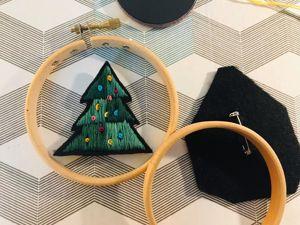 Вышиваем брошку «Елочку». Ярмарка Мастеров - ручная работа, handmade.