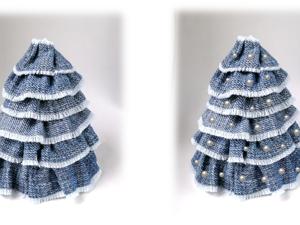 Делаем декоративную ёлочку из джинсовой ткани. Ярмарка Мастеров - ручная работа, handmade.