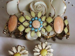 Новинки этой осени: нежный браслет и серьги с эмалью. Ярмарка Мастеров - ручная работа, handmade.