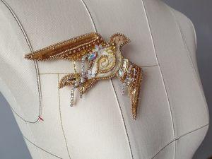 Брошь Золотой Голубь. Леди Гага на инаугурации. Ярмарка Мастеров - ручная работа, handmade.