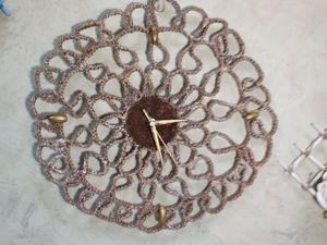 Создаем оригинальные настенные часы-панно в технике макраме. Ярмарка Мастеров - ручная работа, handmade.