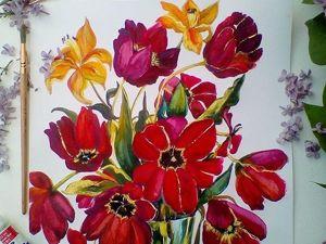 Любимые цветы . Ярмарка Мастеров - ручная работа, handmade.