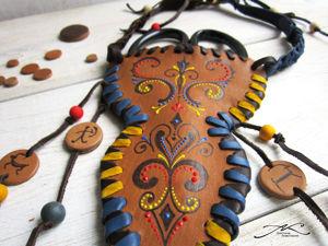 Первая работа из кожи в рамках проекта  «Женское дело». Ярмарка Мастеров - ручная работа, handmade.