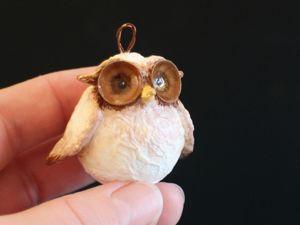 Как сделать сову из шарика от дезодоранта?. Ярмарка Мастеров - ручная работа, handmade.