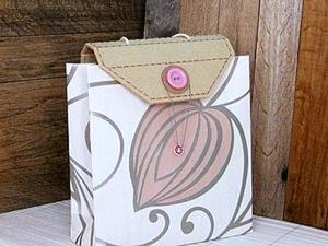 Подарочная упаковка. Бумажный пакет с крышкой. Ярмарка Мастеров - ручная работа, handmade.