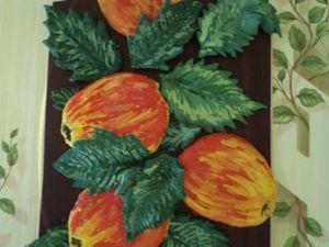 Лепим панно из солёного теста «Яблочки наливные». Ярмарка Мастеров - ручная работа, handmade.