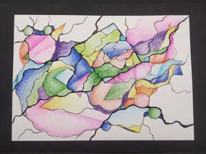 Как рождаются нейрографические картины. Ярмарка Мастеров - ручная работа, handmade.