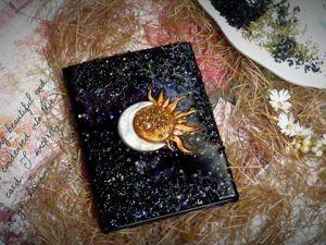 Декор блокнота с нуля. Секреты «Глубокой» заливки эпоксидки. Ярмарка Мастеров - ручная работа, handmade.
