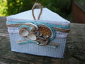 Коробочка призматической формы или upcycling отслужившей упаковки.. Ярмарка Мастеров - ручная работа, handmade.
