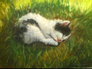Видеоролик-Пишу котёнка — процесс написания картины  «Солнышко моё». Ярмарка Мастеров - ручная работа, handmade.