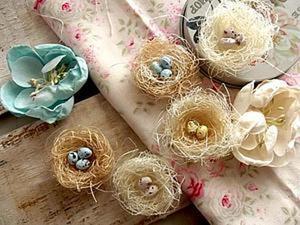 Пасхальные гнёздышки из сизаля своими руками. Ярмарка Мастеров - ручная работа, handmade.