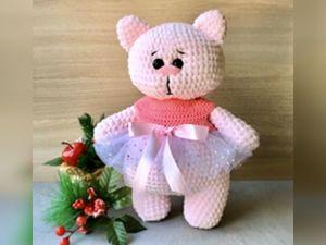Новинка в магазине- вязаная плюшевая игрушка кошечка Мила. Ярмарка Мастеров - ручная работа, handmade.