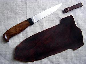 Мастерим ножны для ножа с грибком. Ярмарка Мастеров - ручная работа, handmade.