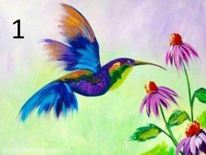 Рисуем гуашью птичку колибри. Ярмарка Мастеров - ручная работа, handmade.