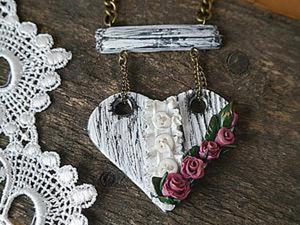 Создаем сердечки в стиле шебби-шик из полимерной глины. Ярмарка Мастеров - ручная работа, handmade.