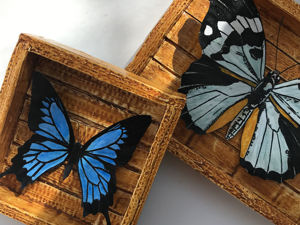 Панно с бабочками из картона и бумаги своими руками. Ярмарка Мастеров - ручная работа, handmade.