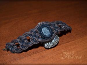 Учимся плести браслет с камнем. Узел «Жозефина». Ярмарка Мастеров - ручная работа, handmade.