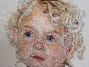 Портреты в технике «живопись иглой» Anna Maria Salehar. Ярмарка Мастеров - ручная работа, handmade.