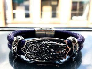 Обзор браслета «Дракон» из кожи морского ската и серебра 925 пробы. Ярмарка Мастеров - ручная работа, handmade.