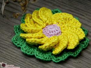 Учимся вязать спиральный цветок крючком: видео мастер-класс для начинающих. Ярмарка Мастеров - ручная работа, handmade.