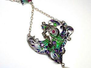 Скидка  на серебряное колье  «Art Nouveau». Ярмарка Мастеров - ручная работа, handmade.