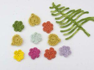 Вяжем самый простой цветок крючком. Ярмарка Мастеров - ручная работа, handmade.