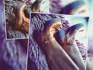 Как превратить ботильоны в сапоги или накладные съемные голенища!. Ярмарка Мастеров - ручная работа, handmade.