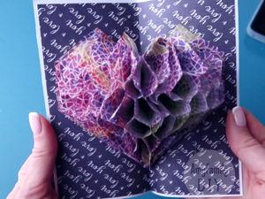 Видеоурок «Открытка с 3d сердцем из салфеток». Ярмарка Мастеров - ручная работа, handmade.