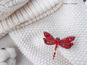 Видео красной стрекозы. Ярмарка Мастеров - ручная работа, handmade.