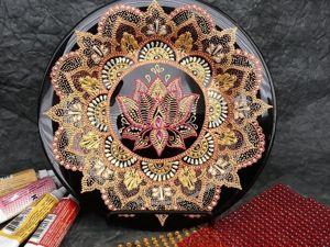 Учимся работать в технике точечная роспись. Декорируем тарелку. Ярмарка Мастеров - ручная работа, handmade.