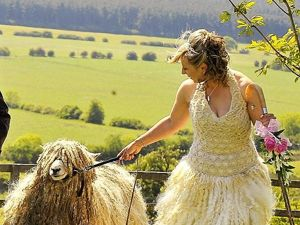 Unusual Wedding in Little Shepherds Style of Bo Peep. Livemaster - handmade
