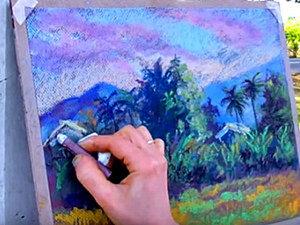 Видео мастер-класс: пленэр в горах Таиланда пастелью. Ярмарка Мастеров - ручная работа, handmade.
