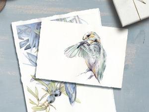 Весенние акварельные птицы!. Ярмарка Мастеров - ручная работа, handmade.