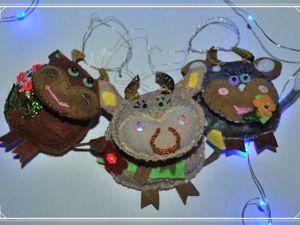Скоро, скоро Новый Год! Кому Бычка на ёлку?. Ярмарка Мастеров - ручная работа, handmade.