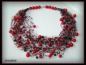 Воздушное ожерелье крючком. Ярмарка Мастеров - ручная работа, handmade.